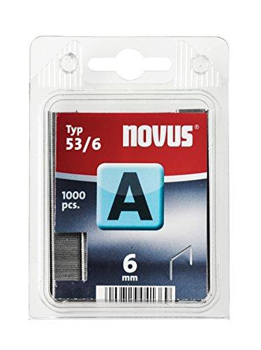 Novus A 53ennemi raht Agrafes avec 6mm Longueur, emballage transparente avec 1000agrafes de type 53/6, 042-0740