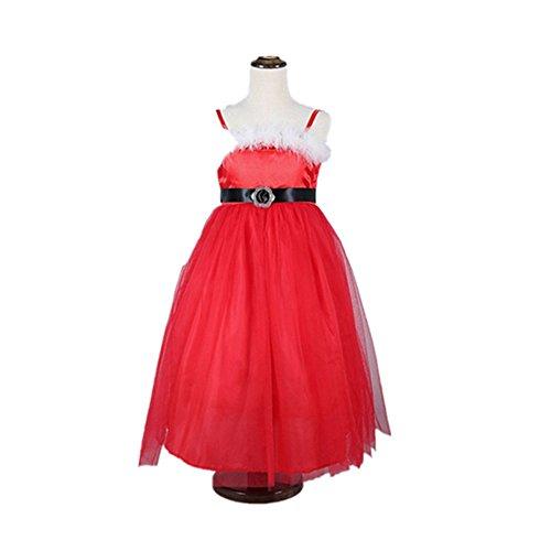 RENZE Mädchen Prinzessin Kleid niedlich Lange Kleider Baby Mädchen Tüll Weihnachten (130cm)
