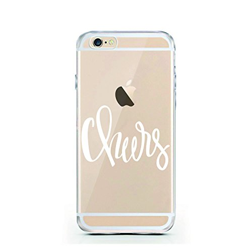 iPhone 6 Hülle von licaso® für das Apple iPhone 6 & 6S aus TPU Silikon Muster Leave a little sparkle wherever you go Star Travel ultra-dünn schützt Dein iPhone 6 & ist stylisch Schutzhülle Bumper in e Cheers
