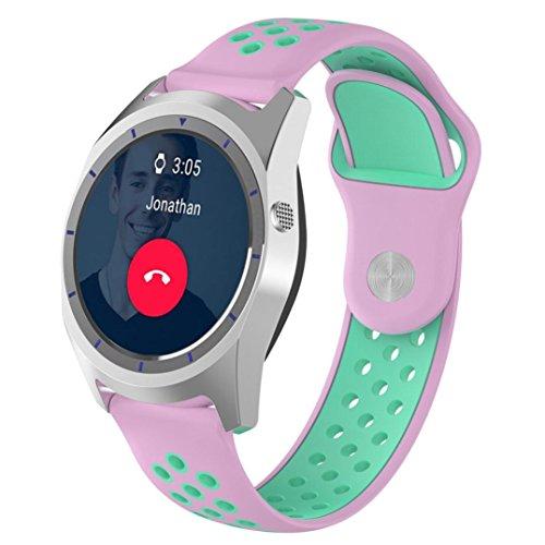 Y56 für ZTE Quarz Smartwatch mit Ersatz-Band, Qualität Bicolor Silikon-replaceme Smart Watch für ZTE, Smartwatch, Quarz, mit -8.66140mm-220mm (mit Sport-Stil, für die sportman pefect) (Klettverschluss Ersatz-uhrenarmband)