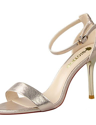 WSS 2016 Chaussures Femme-Habillé-Noir / Vert / Rose / Rouge / Argent / Gris / Or-Talon Aiguille-Talons / Bout Pointu / Bout Ouvert-Talons-Daim green-us6.5-7 / eu37 / uk4.5-5 / cn37
