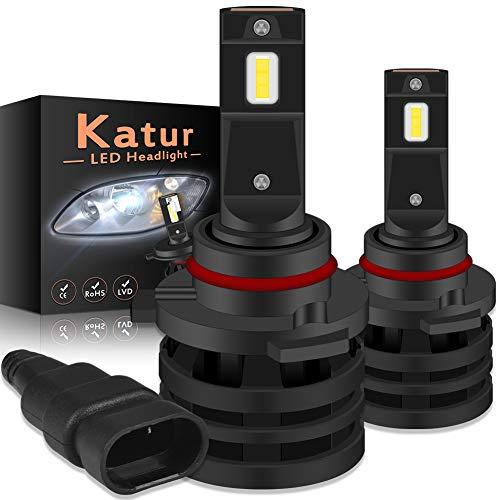 KaTur 9005 Lampadine per fari a LED HB3 Mini Chip per cruscotto aggiornato a 12000 Lumen Kit di conversione per fari LED all-in-One Impermeabile 55W 6500K Xenon White-2 Years Waranty