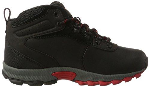 Columbia Youth Newton Ridge, Chaussures Bébé Marche Mixte Enfant Noir (Black/ Mountain Red)