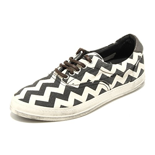 9840G sneakers uomo P448 chevron scarpe shoes men panna/nero