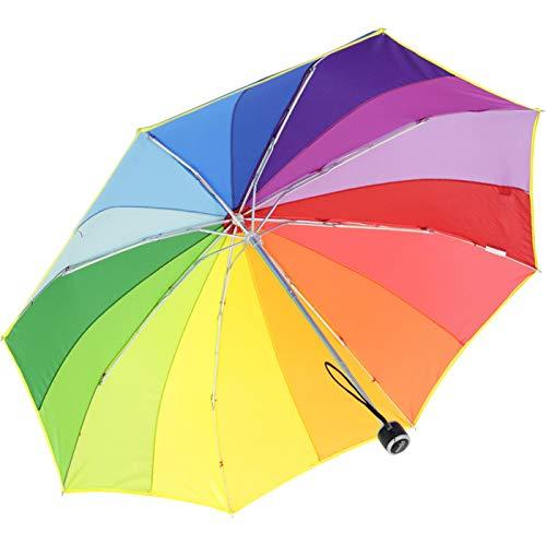 iX-brella Mini Taschenschirm rainbow pocket 16-color - Regenbogen mit 97cm Durchmesser - Regenbogen-farbigen Sternen