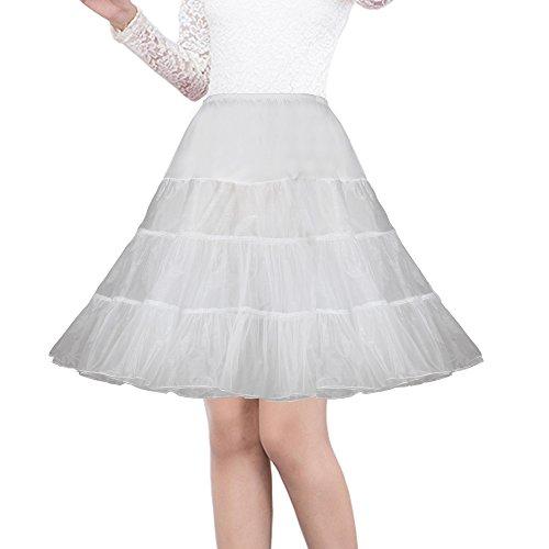 Shimaly Damen 50er jahre vintage-petticoat 26