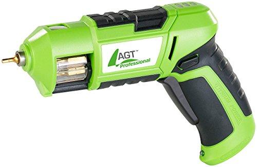 AGT Professional Mini-Akkuschrauber mit 3,6V/ 1,5 Ah & Bit-Trommel