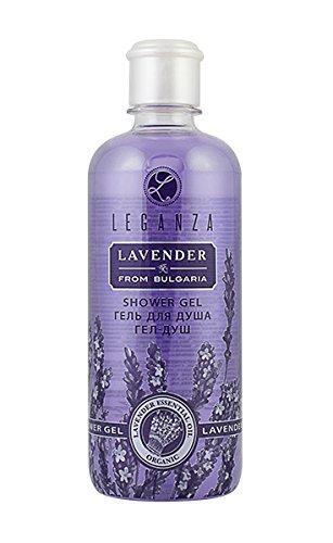 Duschgel mit ätherischen Bio-Lavendelöl, Leganza 500 ml ohne Parabene