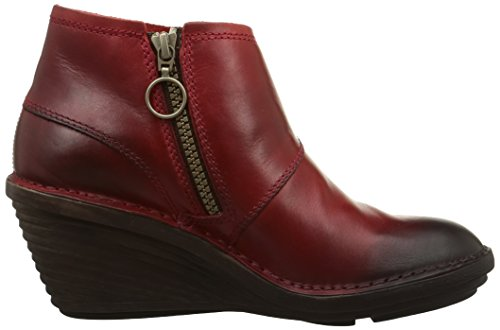 FLY London Sade, Bottes Souples femme Rouge (Red 004)
