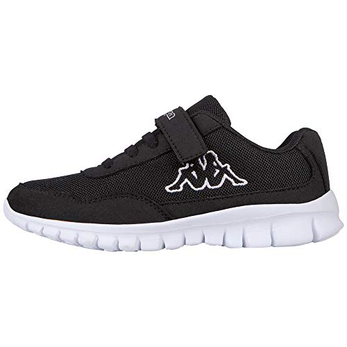 Kappa Unisex-Kinder Follow Kids Sneaker, Schwarz (1110 White/Black), 33 EU