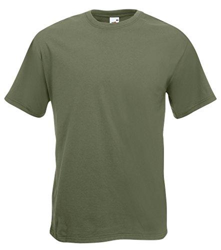 Fruit of the Loom Herren, Regular Fit, T-Shirt, Premium Tee Single Oliv
