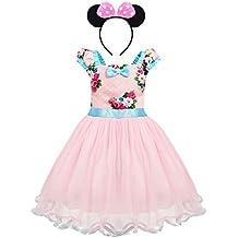 3e1351b92 Bebé Niña Vestido de Fiesta Princesa Disfraces Tutú Ballet Lunares Fantasía  Vestido Carnaval Bautizo Cumpleaños Baile
