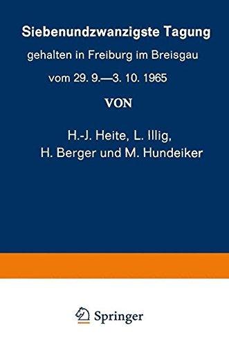 Siebenundzwanzigste Tagung gehalten in Freiburg im Breisgau vom 29. 9.-3. 10.1965 (Verhandlungen der Deutschen Dermatologischen Gesellschaft) (German Edition) by K. W. Kalkoff (2013-08-09)