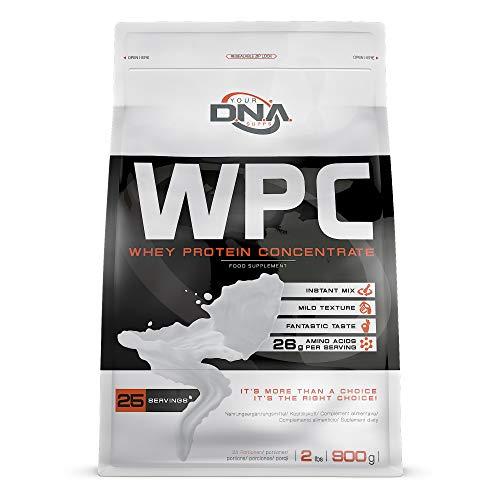 Karamell-protein (DNA WPC Whey Protein Powder Eiweiß-Pulver | Toffee Karamell Geschmack | 1er Verpackung (1 x 900 g))