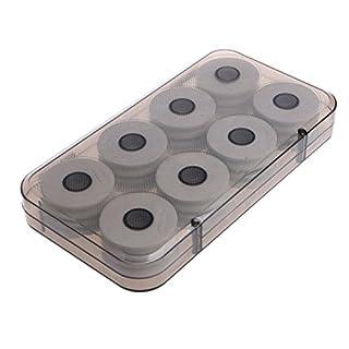 GEZICHTA Wickelbrett aus weißem Schaumstoff, 8 Stück / 16 Stück Angelschnurspulen mit Kunststoff-Box für Angelschnur Rig Aufbewahrung, 16#