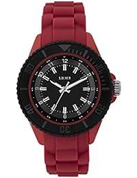 s.Oliver Jungen Analog Quarz Uhr mit Silikon Armband SO-3919-PQ
