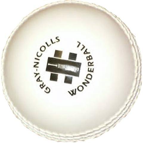Gray-Nicolls Mens Wonderball, Palla allenamento cricket per uomo, Bianco,