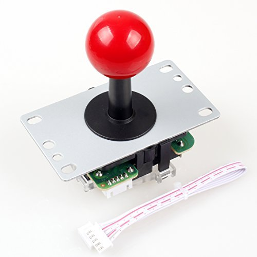 EG STARTS Red Arcade Classic Competition 5 Pin Stick 5P Rocker 4 - 8 Ways Joystick For PC Xbox 360 PS2 PS3 Games Arcade DIY Kit Parts Mame Jamma Machine Gaming