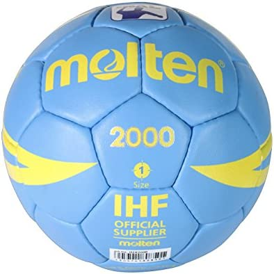 Molten H1X2000 - Balón de balonmano, color celeste, tamaño 1