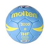Molten H1X2000 - pallone da pallamano, colore celeste, taglia 1