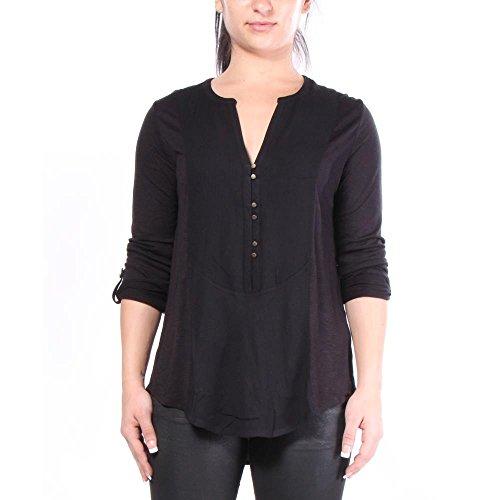 Lucky Brand Woven Mixed Henley T-shirts V-Neck S Damen