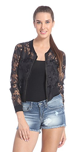 Only Women's Black Colored Party Wear Jacket