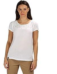 9d45e7644 Regatta Womens Abalina Button Detail Casual Jersey T Shirt