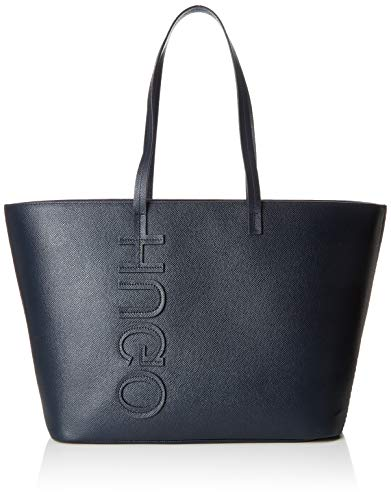 HUGO Damen Chelsea Shopper Tote, Blau (Dark Blue), 18x28x47 cm