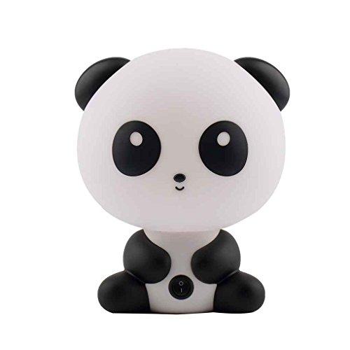Mengonee EU-Stecker Nette Panda Animal Cartoon Kinderbett Schreibtisch Tischlampe Nachtschlaf Lampe Geschenk -
