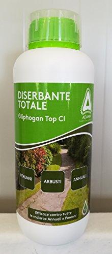 adama gliphogan top cl 1 lt diserbante totale erbicida glifosate sistemico seccatutto