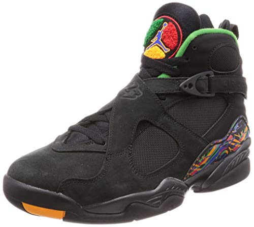 7e5a76cfd6b2 Nike Air Jordan 8 Retro, Chaussures de Fitness Homme, Multicolore  (Black/Light