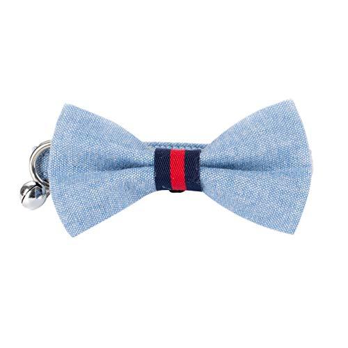 Xinwcang Haustier Hundehalsband und Leine Set Hunde Fliege Kragen Halsbände mit Glocke Hundekrawatte Hochzeit Kragen für Kleine Hunde Als Bild26 M -