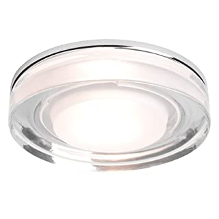 Astro 5518 GU10 Vancouver Round Recessed Downlight Including 1 x 50 Watt 230 V Bulb, Chrome