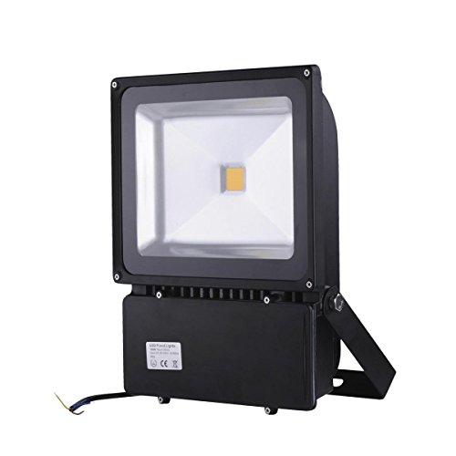 Mctech Projecteur LED de 1 000 watts avec ampoule de 8 000-9 000 lumen 6 000-6 500 Kelvin Lumière : blanc froid Avec protection IP65 Noir