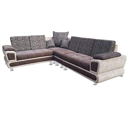 Shree Furniture Hometown 6 Seater Wooden Sofa Set for Living Room (Multicolour)