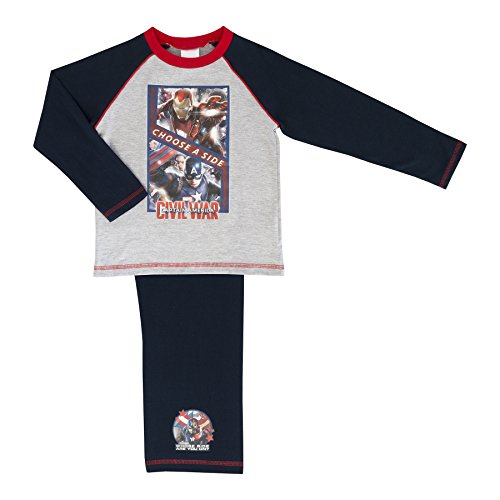 Boys Marvel Avengers Pyjamas Multiple Designs - Civil War 5-6 Years / 110-116 ()