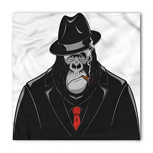 WYICPLO Gorilla Bandana, Formidable Orangutan Mafia, Unisex Head and Neck Tie,39.3 * 39.3inch