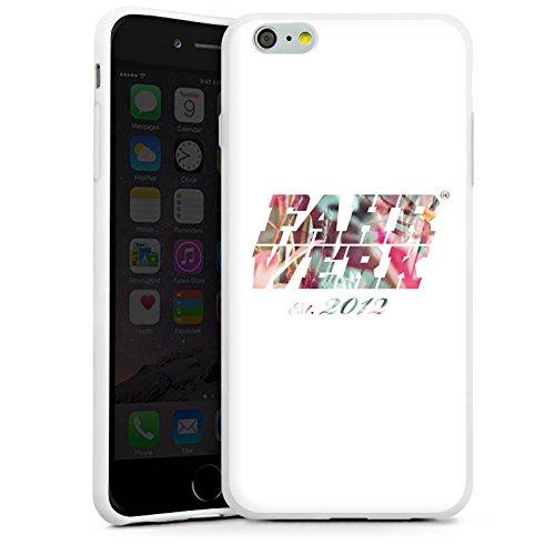Apple iPhone X Silikon Hülle Case Schutzhülle Fahrwerk Muster Bunt Silikon Case weiß