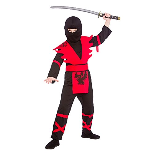 Dress Up Ninja Ideen (Boys Ninja Assassin Black Red Fancy Dress Up Party Costume Halloween)