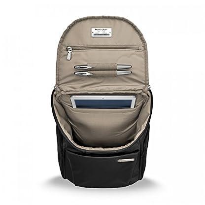 Briggs & Riley Sympatico Small U-Zip Backpack, 13.6 litres, Onyx Maletín, 38 cm, liters, Negro (Onyx)
