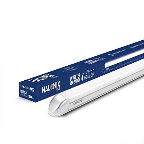 HALONIX Prime 20W-4ft Inverter Rechargeable Cool Day Light Led Batten