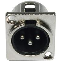 Cable Accu 3 pin XLR macho Conector Panel