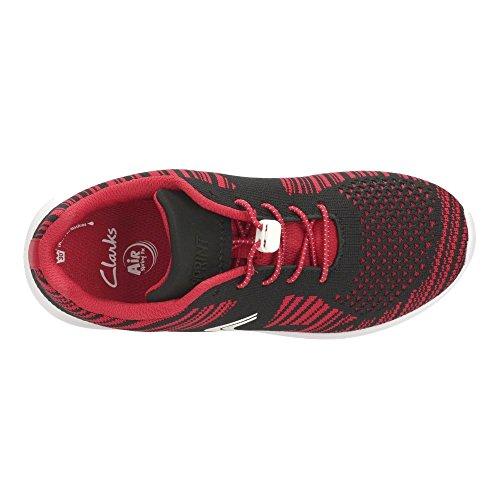 Clarks SprintKnit Jnr Mädchen Sneakers Red Combi