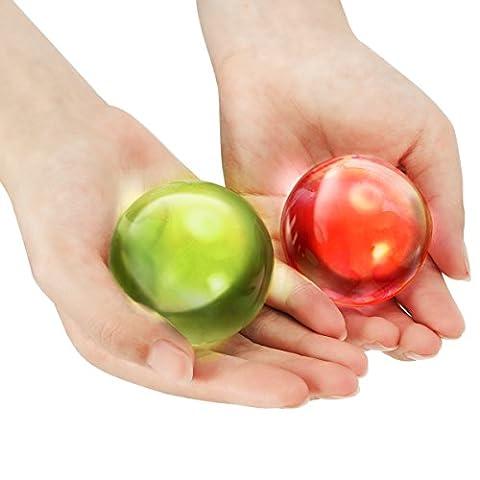 Witasm 160 Perles d'eau Cristaux d'eau Grande Taille Billes d'eau Multicolore Gel Sol, Diamètre après le trempage 40 ~ 70mm, pour décorer des vases, jeu sensoriel, culture hors-sol, etc.