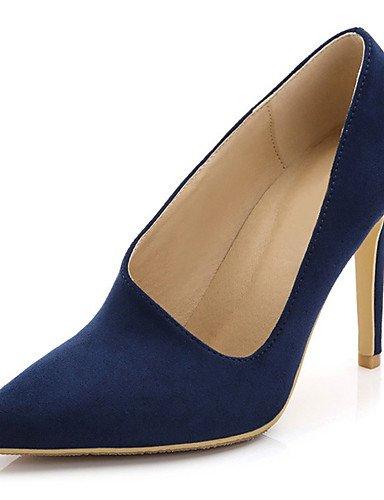Moda Donna Sandali Sexy donna tacchi Primavera / Autunno tacchi / Punta tessuto matrimonio abito / / Casual Stiletto Heel OthersBlack / blu Blue