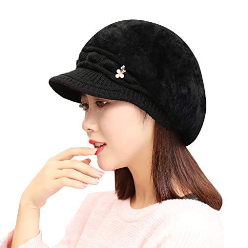 FOANA Wintermütze Mütze warm klassisches Design modern und weich (Ski Lehrer Kostüm)