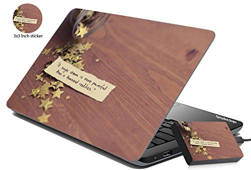 Paper Plane Design Ppd Combo Of Laptop Skin Cover Skin Stickers For