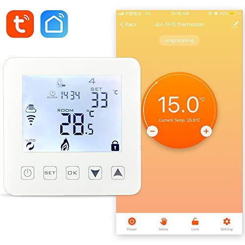 Thermostat-boden (aixi-SHS Wi-Fi-Thermostat-Boden elektrische Heizung - Amazon Alexa Echo/Google Home/IFTTT - LED Touchscreen tempeatur TuyaSmart/Smart Life App Control)