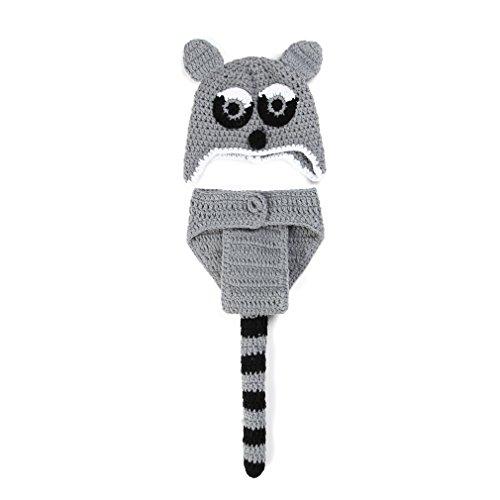 p Baby-Kostüm Leopard Katze Stricken Handarbeit Neugeborene Kostüm (Beanie Baby Katze Kostüm)