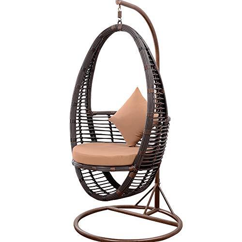 Schaukelstuhl, Kreativer Rattan Crescent Stuhl, Home Wohnzimmer Schlafzimmer Single Cradle Stuhl, Outdoor Terrace Lounge Stuhl | Wohnzimmer > Stüle > Schaukelstühle | SMGXQ